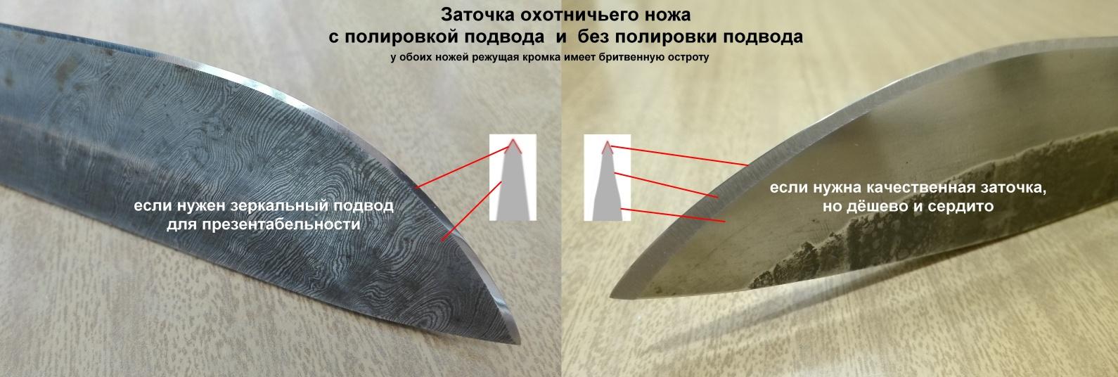 Заточка охотничьего ножа в домашних условиях